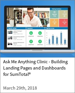 Building Landing Pages and Dashboards for SumTotal