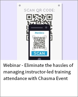 Eliminate the hassles of managing instructor-led training attendance with Chasma Event (1)